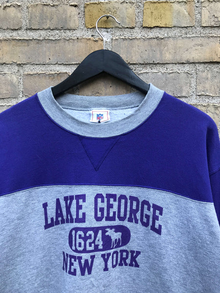 Vintage NFL Lake George Sweatshirt - Large