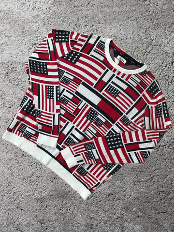 Vintage Tommy Hilfiger USA Strik - XL