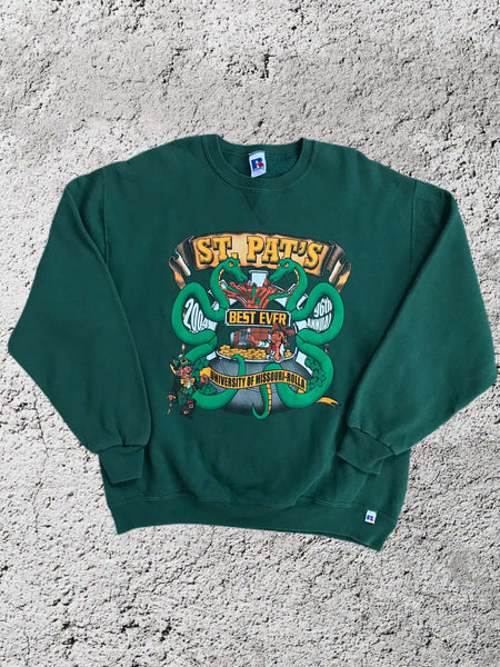 Vintage 2004 St Patricks Day Sweatshirt - Large