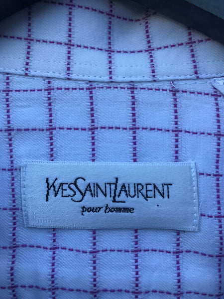 Vintage Yves Saint Laurent Skjorte - Large