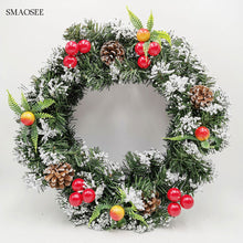 Load image into Gallery viewer, Christmas Decorations Wreath Garland & Rattan