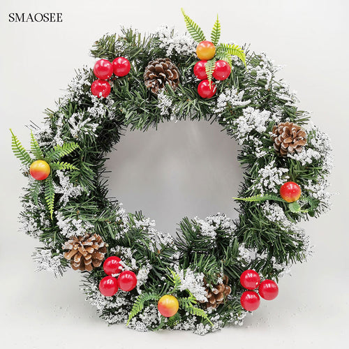 Christmas Decorations Wreath Garland & Rattan