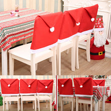 Load image into Gallery viewer, Christmas Chair Covers Santa Snowman Xmas Party Kitchen Decor