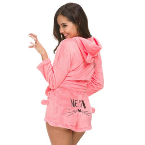 Cute Cat Meow Pajamas Set