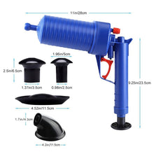 Load image into Gallery viewer, Air Power Drain Blaster gun High Pressure Powerful Manual sink Plunger Opener cleaner pump for Bath Toilets Bathroom Show