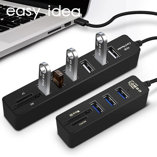 High Speed USB Hub 3.0 3/6 Ports Hab TF SD Card Reader All In One For PC Computer Accessories
