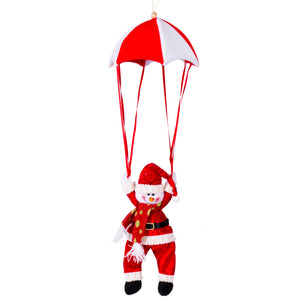 Christmas Tree Hanging Decor Parachute Snowman Santa Claus Ornaments Xmas
