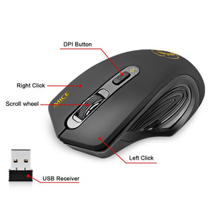 USB Wireless mouse 2000DPI Adjustable USB 3.0 Receiver Optical Computer Mouse 2.4GHz