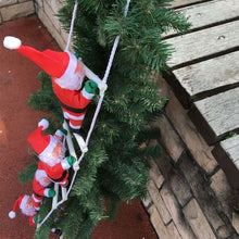 Load image into Gallery viewer, Merry Christmas Ornaments Santa Claus Climbing On Rope Ladder Hanging Decor