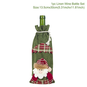 Christmas Decoration Covers for Bottles