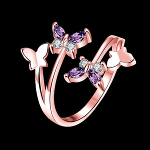 Butterfly Crystal Wings Ring