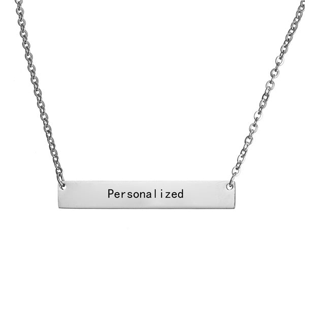Personalized Blank Bar Necklace