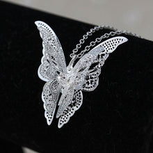 Load image into Gallery viewer, Butterfly Pendant & Necklace