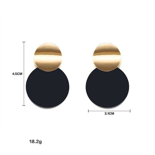Unique Black Stud Earrings