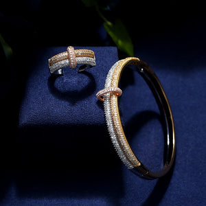 New Luxury Bracelet And Ring Set