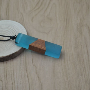 Wood Resin Pendulum Necklace