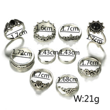 Load image into Gallery viewer, Antique Silver Ring Set