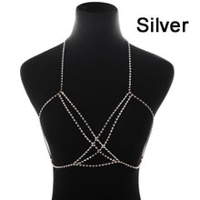 Load image into Gallery viewer, Full Rhinestone Body Chain Necklace