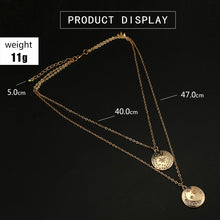 Load image into Gallery viewer, Bohemian Star Moon Necklace