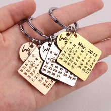 Load image into Gallery viewer, Personalized Calendar keychain