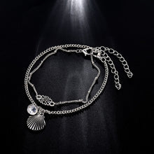 Load image into Gallery viewer, Silver Shell Anklet Bracelet