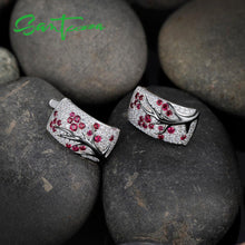Load image into Gallery viewer, Natural Red Stones Silver Jewelry Set