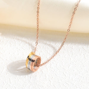 Tricolor Pendants Necklace