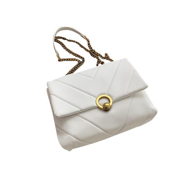 Amara Purse Porcelain White - Pursh Collection