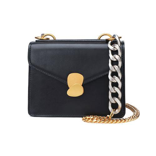 Brenna Purse Midnight Black (Silver/Gold) - Pursh Collection