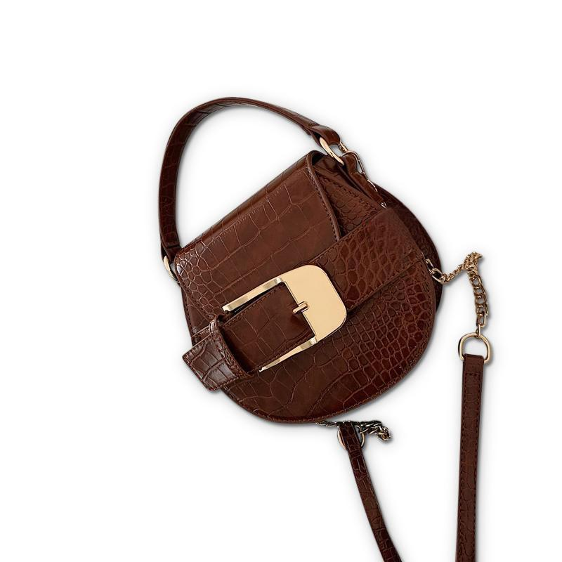 Buckley Purse Cinnamon Crocodile - Pursh Collection