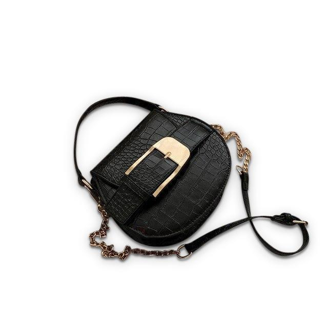 Buckley Purse Midnight Crocodile - Pursh Collection