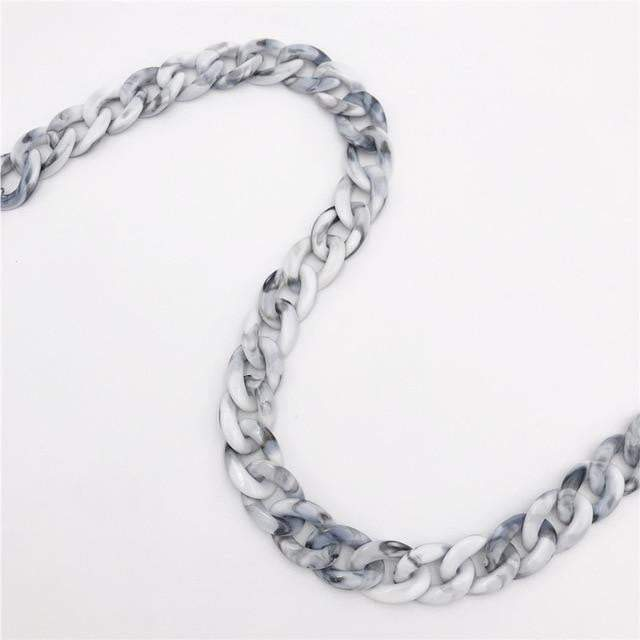 Carved in Stone Accessory Marble - Silver Clasp - Pursh Collection