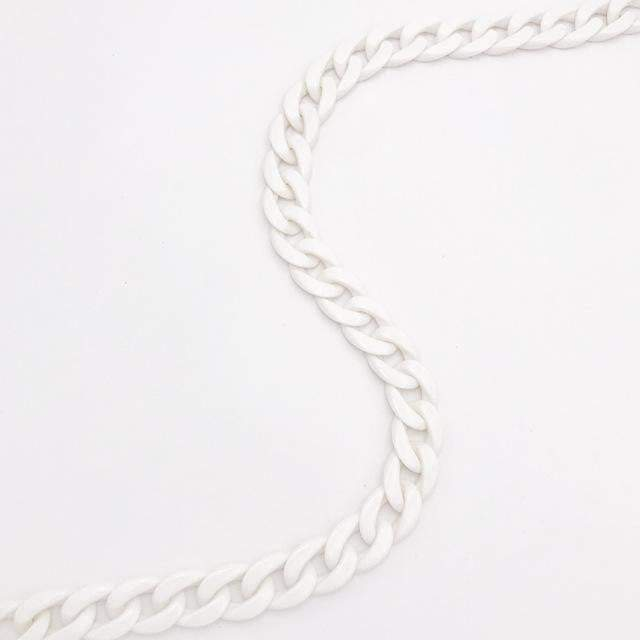 Carved in Stone Accessory White - Gold Clasp - Pursh Collection