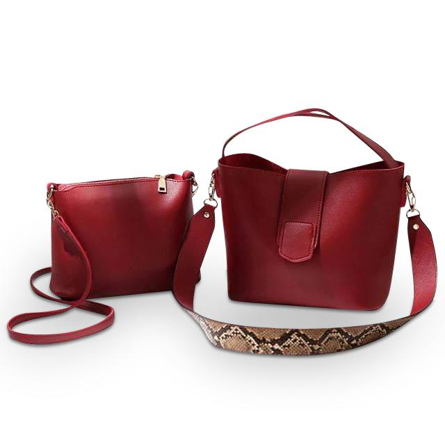 Émilie (Emilie) Purse Red - Pursh Collection