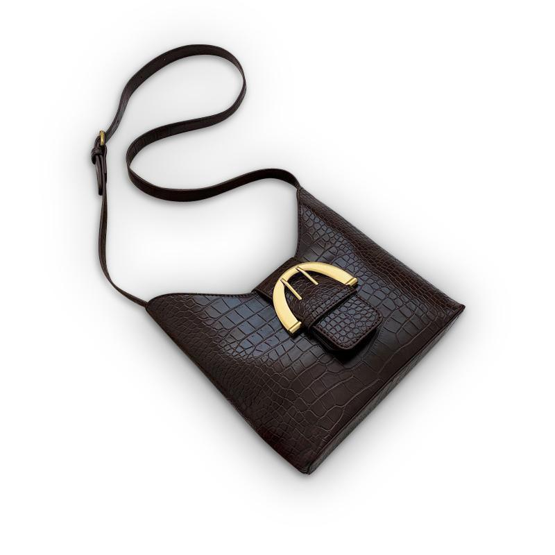 Laure Purse Dark Chocolate Brown - Pursh Collection