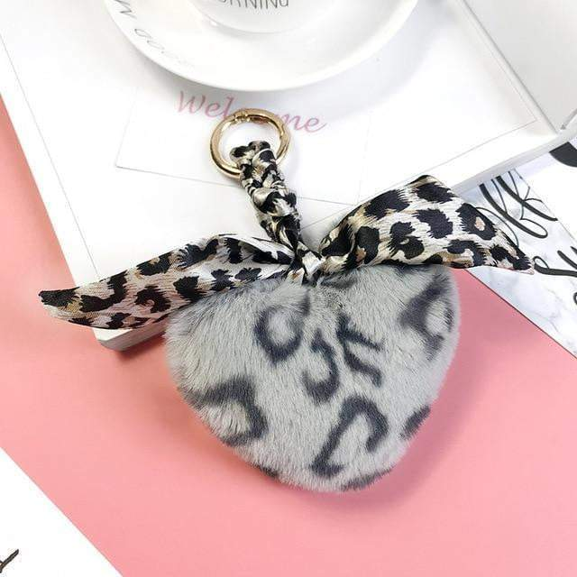 Leopard Can't Change Its Scarves Accessory Grey Heart - Pursh Collection