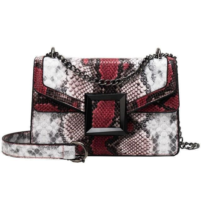 Mara Purse Porcelain/Lipstick Red - Pursh Collection