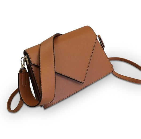 Open Letter Purse Tawny Brown - Pursh Collection