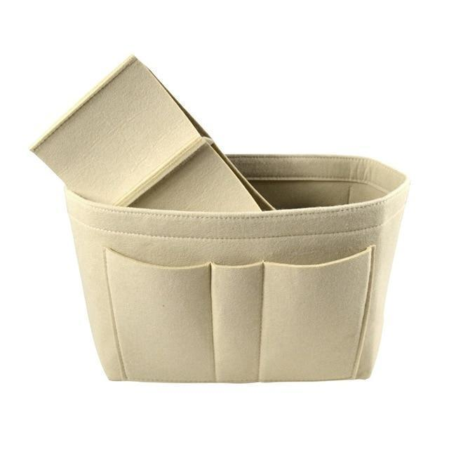 Purse Insert/Organizer (22c) Accessory Beige - Pursh Collection