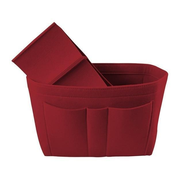 Purse Insert/Organizer (22c) Accessory Red - Pursh Collection