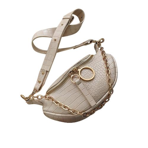 Sasha Crocodile Purse Crocodile Cream - Pursh Collection