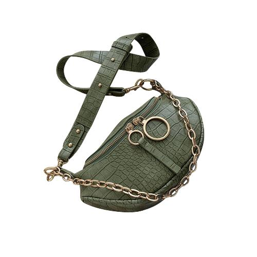 Sasha Crocodile Purse Crocodile Fern - Pursh Collection