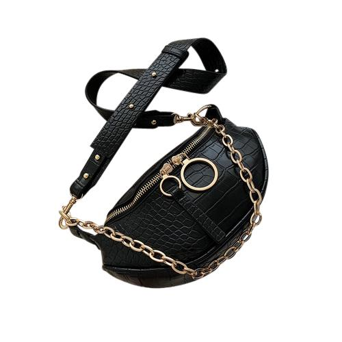 Sasha Crocodile Purse Crocodile Midnight - Pursh Collection