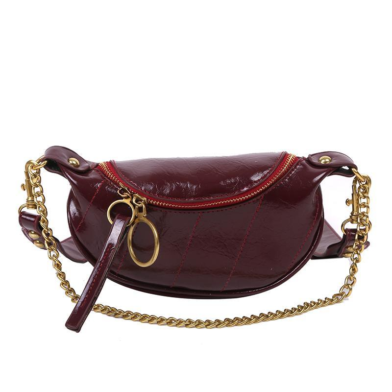 Sasha Shine Purse Berry Red - Pursh Collection