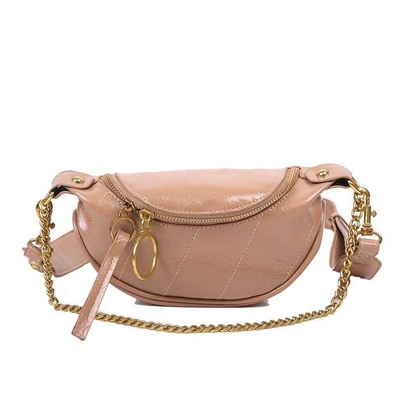 Sasha Shine Purse Latte Brown - Pursh Collection