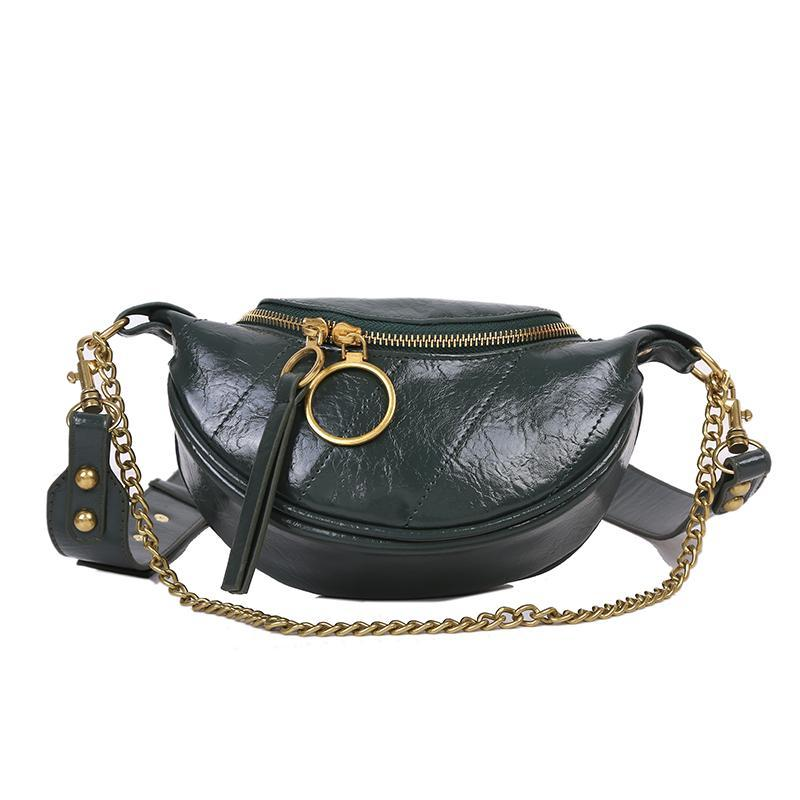 Sasha Shine Purse Pine Green - Pursh Collection