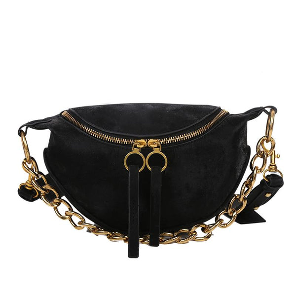 Sasha Velvet Purse Onyx Black - Pursh Collection