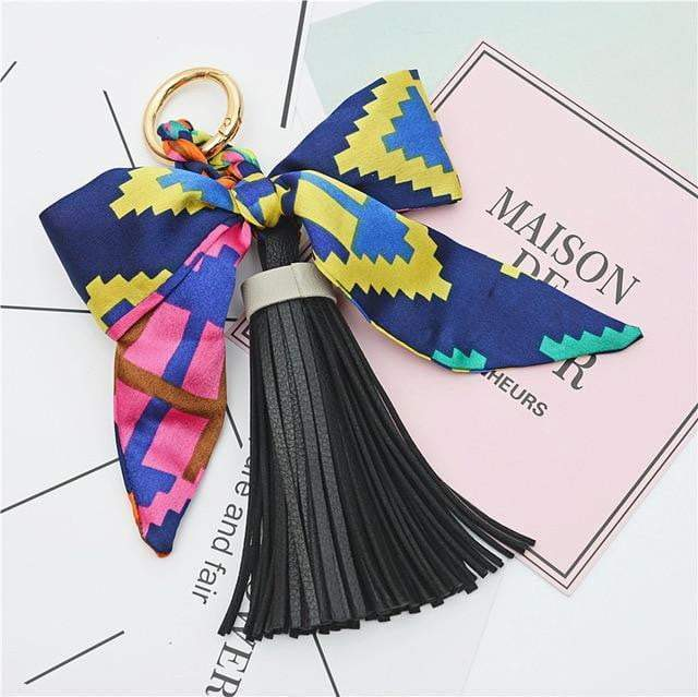Scarf and Tassel Accessory Black - Pursh Collection