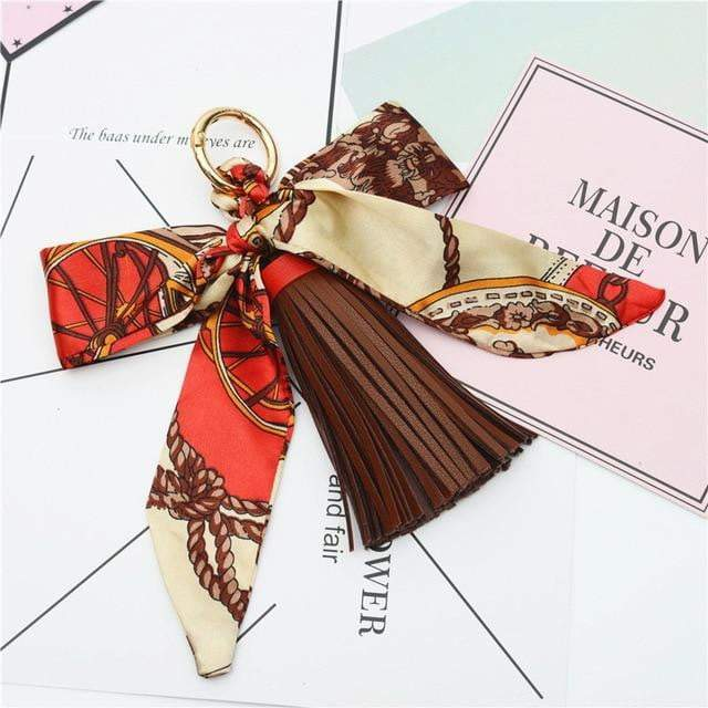 Scarf and Tassel Accessory Dark Coffee - Pursh Collection