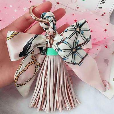 Scarf and Tassel Accessory Korea Pink - Pursh Collection